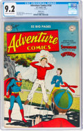 Golden Age (1938-1955):Superhero, Adventure Comics #154 Double Cover (DC, 1950) CGC NM- 9.2 Off-white to white pages....