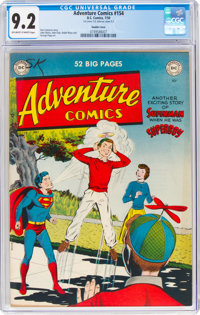 Adventure Comics #154 Double Cover (DC, 1950) CGC NM- 9.2 Off-white to white pages