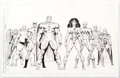 "Original Comic Art:Illustrations, Keith Pollard and Joe Rubinstein Official Handbook of the Marvel Universe Master Edition #28 ""Squadron Supreme"" Il..."