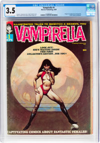 Vampirella #1 (Warren, 1969) CGC VG- 3.5 Off-white to white pages