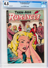Teen-Age Romances #13 (St. John, 1950) CGC VG+ 4.5 Off-white pages