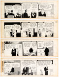 Original Comic Art:Comic Strip Art, Harold Gray Little Orphan Annie Daily Comic Strip Original Art Group of 4 (News Syndicate Co., Inc., 1967).... (Total: 4 Original Art)