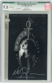Death: The High Cost of Living #1 Platinum (DC, 1993) CGC Qualified NM/MT 9.8 White pages