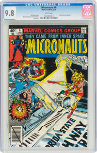 Micronauts #6 (Marvel, 1979) CGC NM/MT 9.8 White pages