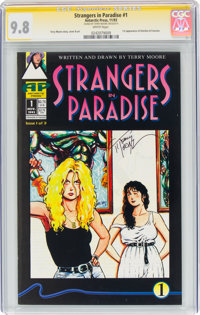 Strangers in Paradise #1 Signature Series (Antarctic Press, 1993) CGC NM/MT 9.8 White pages