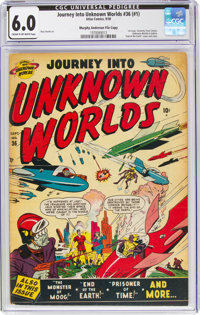 Journey Into Unknown Worlds #36 (#1) Murphy Anderson File Copy (Atlas, 1950) CGC FN 6.0 Cream to off-white pages