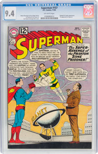 Superman #157 (DC, 1962) CGC NM 9.4 Off-white pages