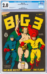 Big 3 #2 (Fox, 1941) CGC GD 2.0 Cream to off-white pages