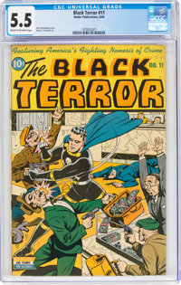 The Black Terror #11 (Nedor Publications, 1945) CGC FN- 5.5 Cream to off-white pages