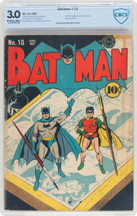 Batman #10 (DC, 1942) CBCS GD/VG 3.0 Off-white to white pages