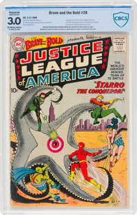 The Brave and the Bold #28 Justice League of America (DC, 1960) CBCS Restored GD/VG 3.0 Slight (A) Off-white to white pa...