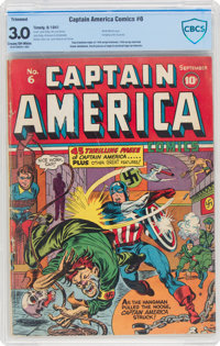Captain America Comics #6 Trimmed (Timely, 1941) CBCS GD/VG 3.0 Cream to off-white pages