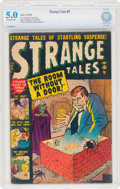 Golden Age (1938-1955):Horror, Strange Tales #5 (Atlas, 1952) CBCS VG/FN 5.0 Off-white to white pages....