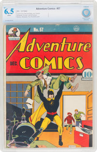 Adventure Comics #57 (DC, 1940) CBCS FN+ 6.5 White pages