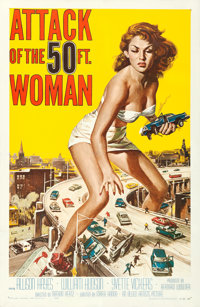 """Attack of the 50 Foot Woman (Allied Artists, 1958). Very Fine- on Linen. One Sheet (27"""" X 41""""). Reynold Brown..."""