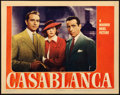 "Movie Posters:Academy Award Winners, Casablanca (Warner Bros., 1942). Fine+ on Paper. Lobby Card (11"" X 14"").. ..."