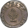 1652 SHILNG Pine Tree Shilling, Large Planchet, Pellets at Trunk, MS63+ PCGS. Noe-1, W-690, Salmon 1-A, R.2....(PCGS# 45...