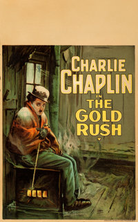"The Gold Rush (United Artists, 1925). Fine+. Window Card (13.75"" X 22"")"