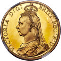 Great Britain, Great Britain: Victoria gold Proof 2 Pounds 1887 PR65+ Ultra Cameo NGC, ...