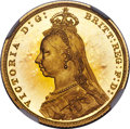 Great Britain: Victoria gold Proof Sovereign 1887 PR66★ Cameo NGC