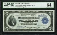 Fr. 749 $2 1918 Federal Reserve Bank Note PMG Choice Uncirculated 64