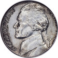 Errors, 1943-S 5C Jefferson Nickel -- Struck on a Zinc-Plated Steel Cent Planchet -- AU58 NGC....