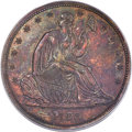 1838 P50C Seated Liberty Half Dollar, Judd-77 Restrike, Pollock-85, High R.7 PR63 Red and Brown PCGS....(PCGS# 11310)