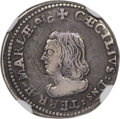 (1659) 4PENCE Lord Baltimore Fourpence VF30 NGC. Hodder 1-A, W-1010, R.6....(PCGS# 32)