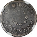 Colonials, 1783 6PENCE Chalmers Sixpence, Small Date -- Plugged -- NGC Details. VF. Breen-1015, W-1775, High R.6....