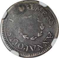 1783 6PENCE Chalmers Sixpence, Small Date -- Plugged -- NGC Details. VF. Breen-1015, W-1775, High R.6....(PCGS# 593)
