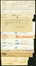 An Offering of Early Checks and Other Ephemera from Alabama. Fine or Better. ... (Total: 12 notes)