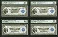 Large Size:Federal Reserve Bank Notes, Fr. 729 $1 1918 Federal Reserve Bank Note Four Consecutive Examples PMG Graded.. ... (Total: 4 notes)