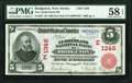 National Bank Notes:New Jersey, Bridgeton, NJ - $5 1902 Red Seal Fr. 587 The Cu...