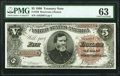 Fr. 359 $5 1890 Treasury Note PMG Choice Uncirculated 63