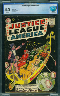 Justice League of America #3 - CBCS CERTIFIED (DC, 1961) CGC VG 4.0 White pages