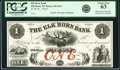 Obsoletes By State:Wisconsin, Elk Horn, WI - Elk Horn Bank $1 18__ G2a Proof PCGS Choice New 63, 4 POCs.. ...