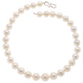 Estate Jewelry:Necklaces, South Sea Cultured Pearl, Silver Necklace. ...