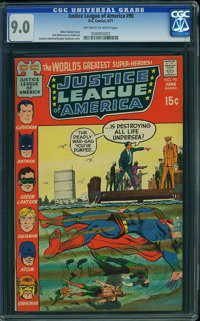 Justice League of America #90 (DC, 1971) CGC VF/NM 9.0 Off-white to white pages