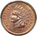 1877 1C MS66 Red and Brown PCGS. CAC....(PCGS# 2128)