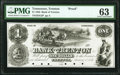Obsoletes By State:Tennessee, Trenton, TN- Bank of Trenton $1 Jan. 1, 1856 G2P Garland 1245 Proof PMG Choice Uncirculated 63, 6 POCS.. ...