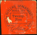 Obsoletes By State:Massachusetts, Boston, MA- Sutler's Department, 13th Massachusetts Regiment 25¢ About Uncirculated.. ...