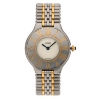 Cartier Lady's Gold, Stainless Steel Must de Cartier 21 Watch