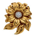 Estate Jewelry:Brooches - Pins, Diamond, Platinum, Gold Clip-Brooch. ...