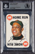 Signed 1968 Topps Game Willie Mays #8 BAS Authentic