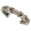 Estate Jewelry:Bracelets, Diamond, White Gold, Sterling Silver Bracelet, David Yurman. ...