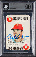 Signed 1968 Topps Game Pete Rose #30 BAS Authentic