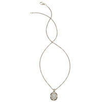 Diamond, Sterling Silver Pendant-Necklace, David Yurman