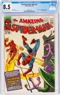 The Amazing Spider-Man #21 (Marvel, 1965) CGC VF+ 8.5 Cream to off-white pages