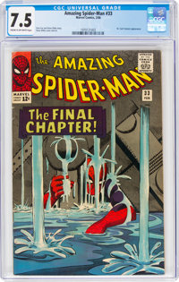 The Amazing Spider-Man #33 (Marvel, 1966) CGC VF- 7.5 Cream to off-white pages