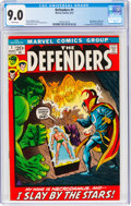 The Defenders #1 (Marvel, 1972) CGC VF/NM 9.0 White pages